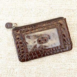 Handbags - Brown alligator skin coin purse / wallet